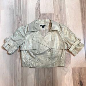 Jackets & Blazers - BCX | GOLD CROP TRENCH